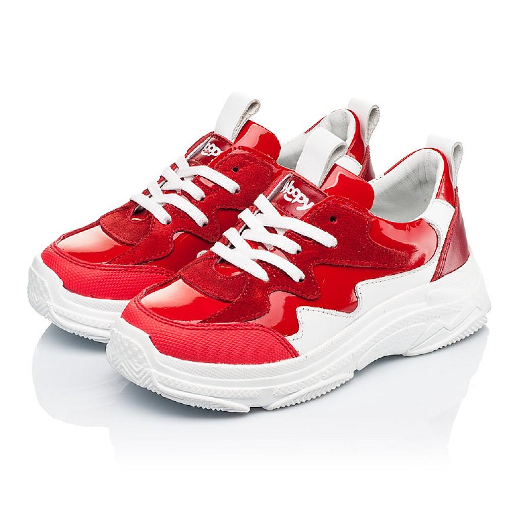 Детские кроссовки Woopy Fashion белые,красные для девочек натуральная замша, лаковая кожа размер 31-39 (7080) Фото 3