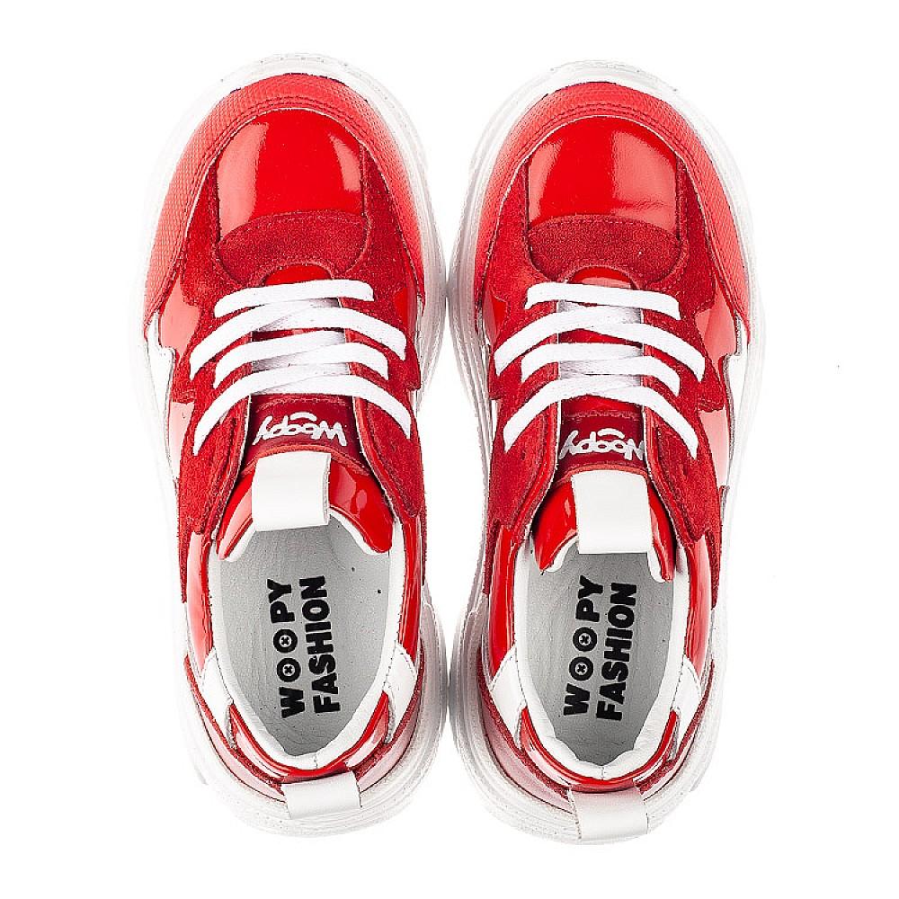 Детские кроссовки Woopy Fashion белые,красные для девочек натуральная замша, лаковая кожа размер 31-39 (7080) Фото 5