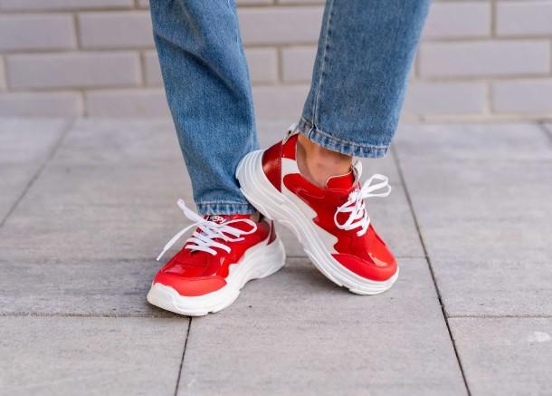 Девочка обута в детские кроссовки Woopy Fashion белые,красные (7080) Фото 1