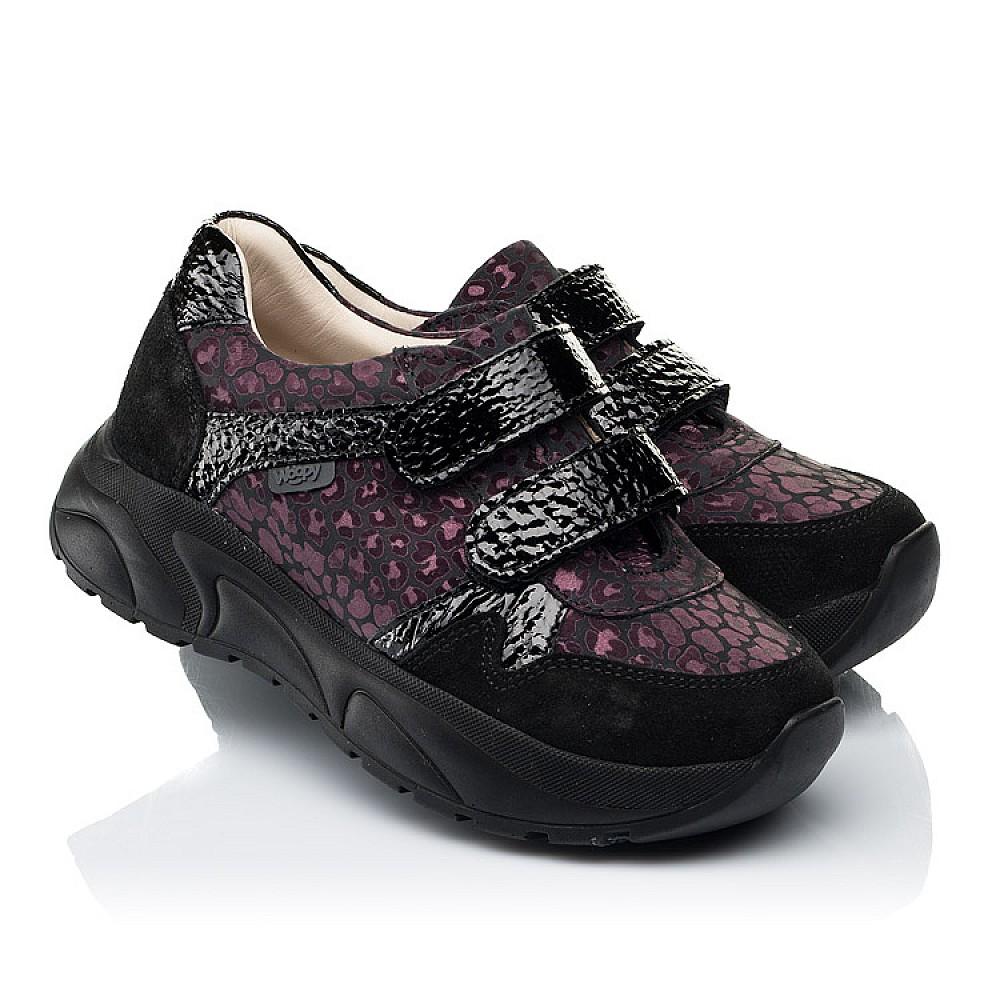 Детские кроссовки Woopy Fashion черные для девочек натуральный нубук размер 28-39 (7082) Фото 1