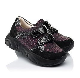 Детские кроссовки Woopy Fashion черные для девочек натуральный нубук размер 28-38 (7082) Фото 1