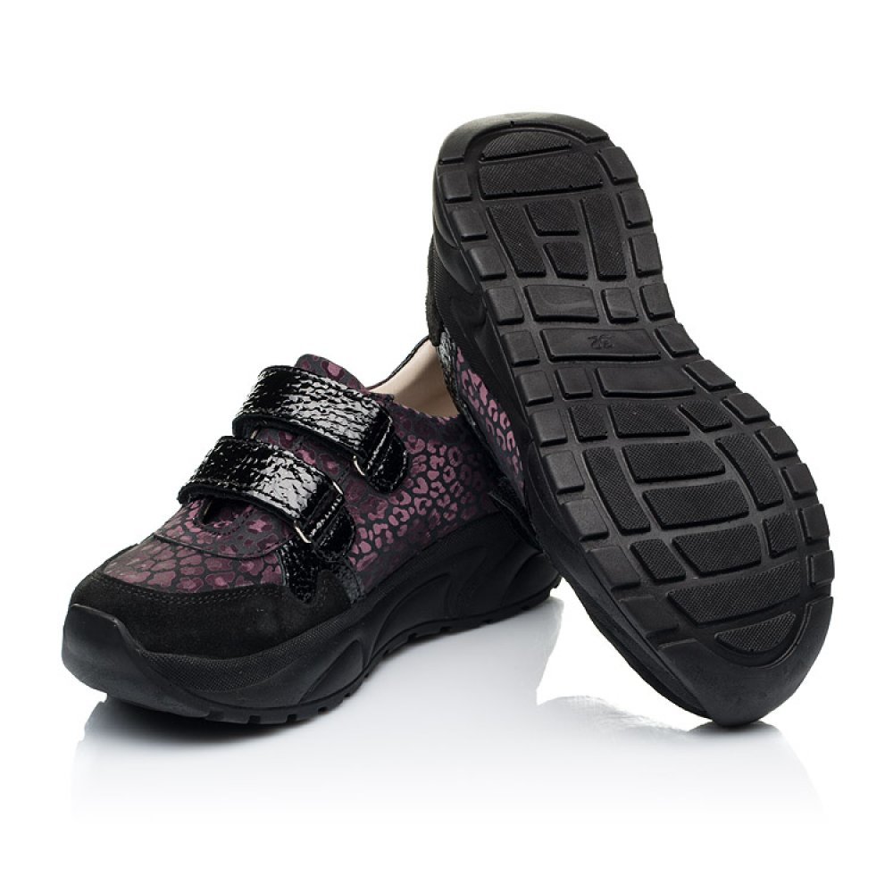 Детские кроссовки Woopy Fashion черные для девочек натуральный нубук размер 28-39 (7082) Фото 2