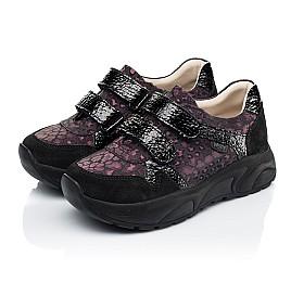 Детские кроссовки Woopy Fashion черные для девочек натуральный нубук размер 28-38 (7082) Фото 3