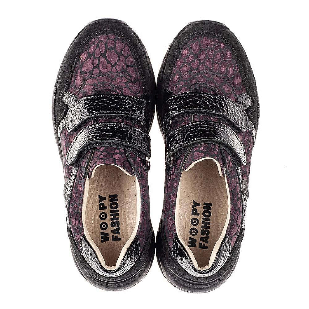 Детские кроссовки Woopy Fashion черные для девочек натуральный нубук размер 28-39 (7082) Фото 5