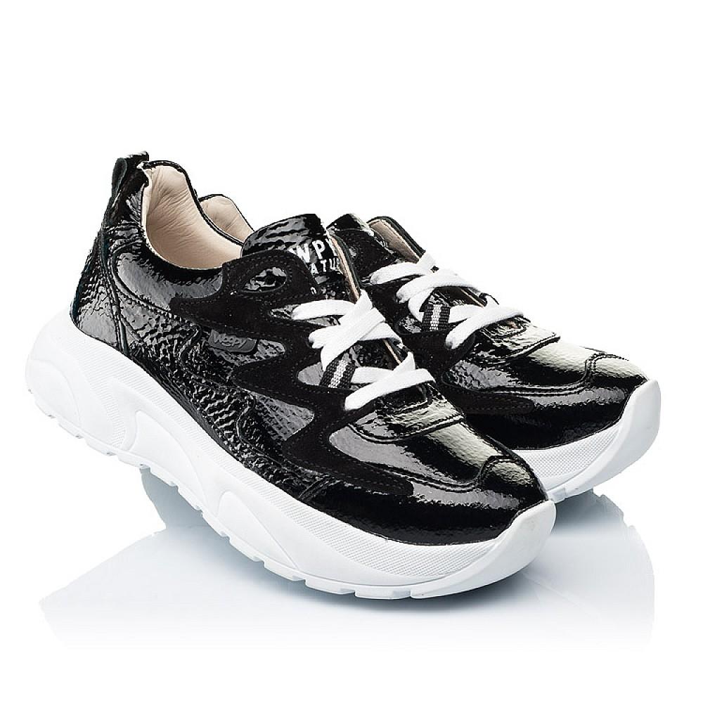Детские кроссовки Woopy Fashion черные для девочек натуральная лаковая кожа размер 32-40 (7083) Фото 1
