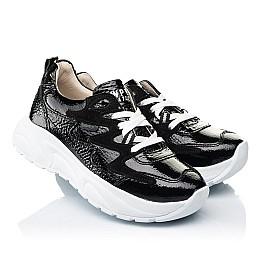 Детские кроссовки Woopy Fashion черные для девочек натуральная лаковая кожа размер 32-39 (7083) Фото 1