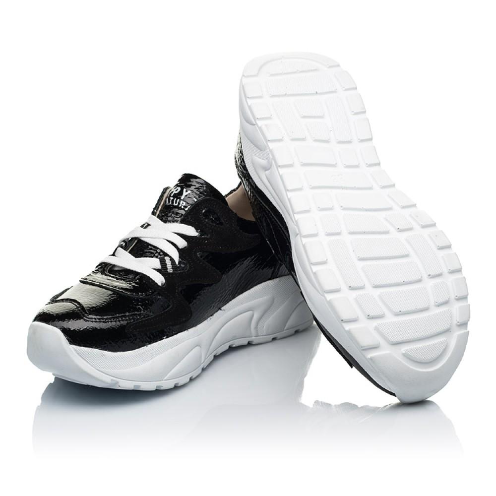 Детские кроссовки Woopy Fashion черные для девочек натуральная лаковая кожа размер 32-40 (7083) Фото 2