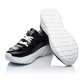 Детские кроссовки Woopy Fashion черные для девочек натуральная лаковая кожа размер 32-39 (7083) Фото 2