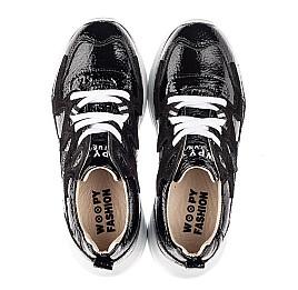 Детские кроссовки Woopy Fashion черные для девочек натуральная лаковая кожа размер 32-39 (7083) Фото 5