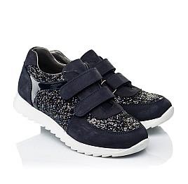 Детские кроссовки Woopy Fashion темно-синие для девочек натуральный нубук, современный искусственный материал размер 23-24 (7085) Фото 1
