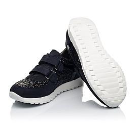 Детские кроссовки Woopy Fashion темно-синие для девочек натуральный нубук, современный искусственный материал размер 23-24 (7085) Фото 2