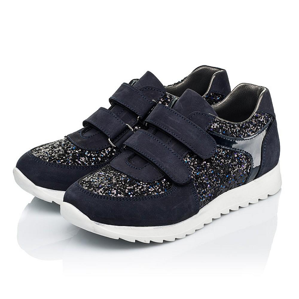 Детские кроссовки Woopy Fashion темно-синие для девочек натуральный нубук, современный искусственный материал размер 23-33 (7085) Фото 3