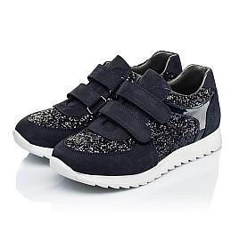 Детские кроссовки Woopy Fashion темно-синие для девочек натуральный нубук, современный искусственный материал размер 23-24 (7085) Фото 3