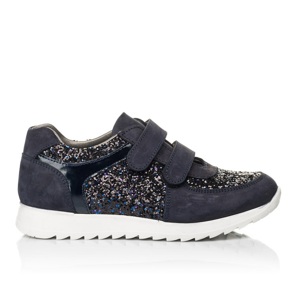 Детские кроссовки Woopy Fashion темно-синие для девочек натуральный нубук, современный искусственный материал размер 23-33 (7085) Фото 4