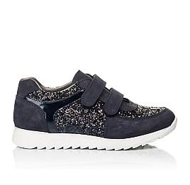 Детские кроссовки Woopy Fashion темно-синие для девочек натуральный нубук, современный искусственный материал размер 23-24 (7085) Фото 4