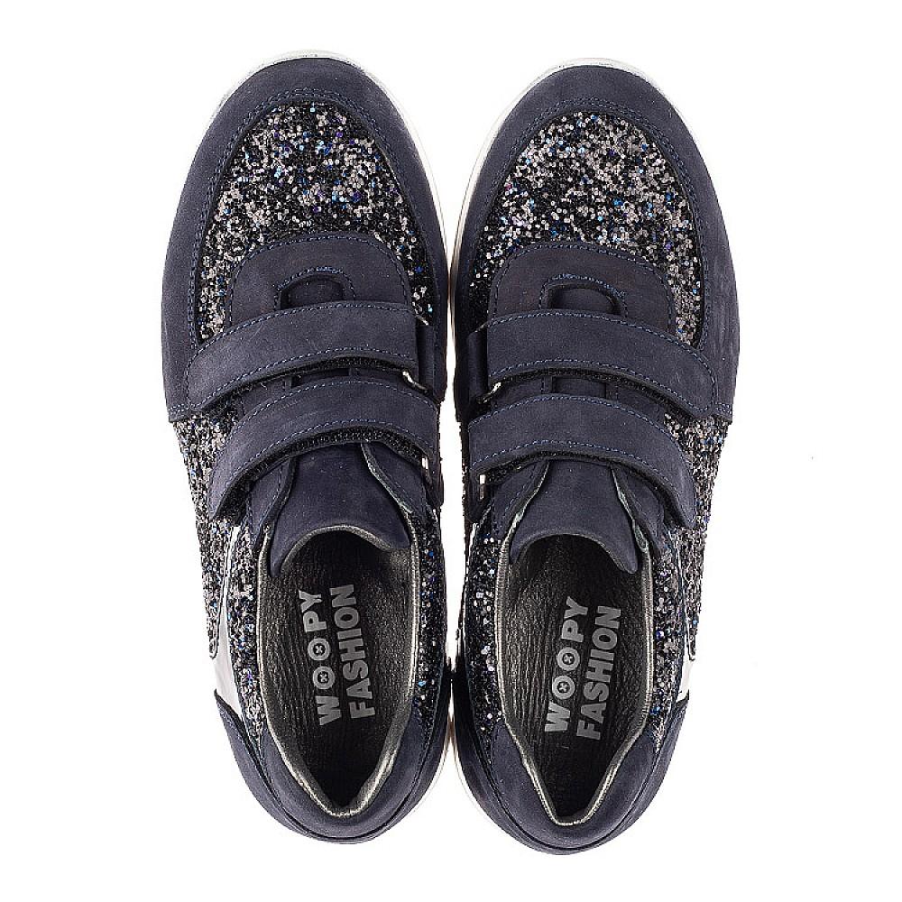 Детские кроссовки Woopy Fashion темно-синие для девочек натуральный нубук, современный искусственный материал размер 23-33 (7085) Фото 5