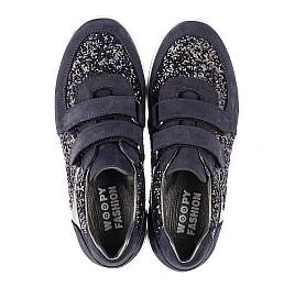 Детские кроссовки Woopy Fashion темно-синие для девочек натуральный нубук, современный искусственный материал размер 23-24 (7085) Фото 5