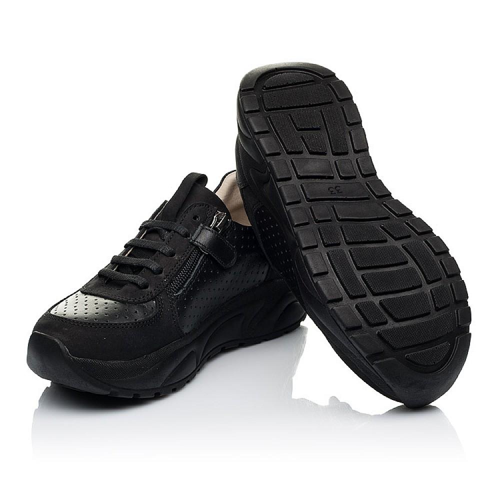 Детские кроссовки Woopy Fashion черные для девочек натуральный нубук и кожа размер 26-38 (7086) Фото 2
