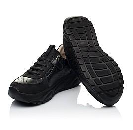 Детские кроссовки (боковая молния) Woopy Fashion черные для девочек натуральный нубук и кожа размер 26-29 (7086) Фото 2