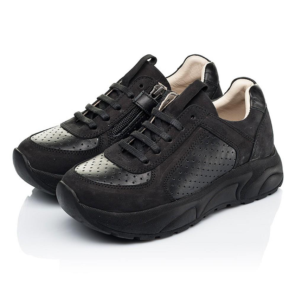 Детские кроссовки Woopy Fashion черные для девочек натуральный нубук и кожа размер 26-38 (7086) Фото 3