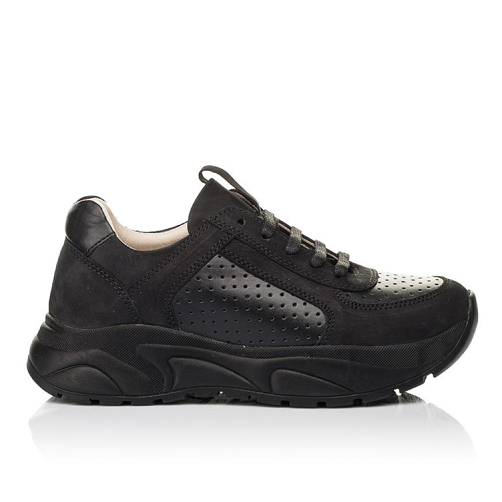 Детские кроссовки Woopy Fashion черные для девочек натуральный нубук и кожа размер 26-38 (7086) Фото 4