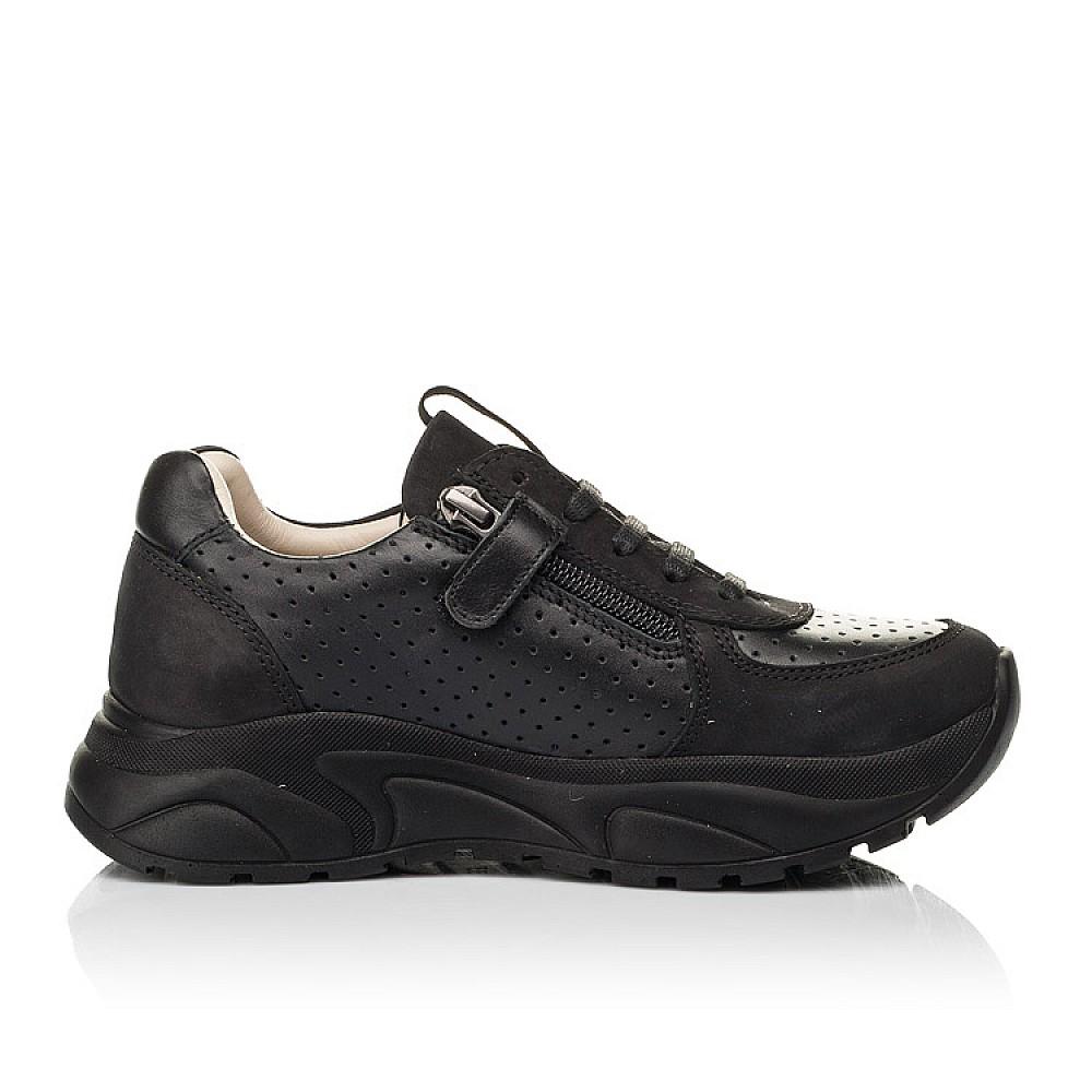 Детские кроссовки Woopy Fashion черные для девочек натуральный нубук и кожа размер 26-38 (7086) Фото 5