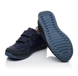 Детские кроссовки Woopy Fashion синие для мальчиков натуральный нубук размер 29-40 (7088) Фото 2
