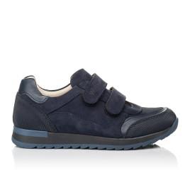Детские кроссовки Woopy Fashion синие для мальчиков натуральный нубук размер 29-40 (7088) Фото 4