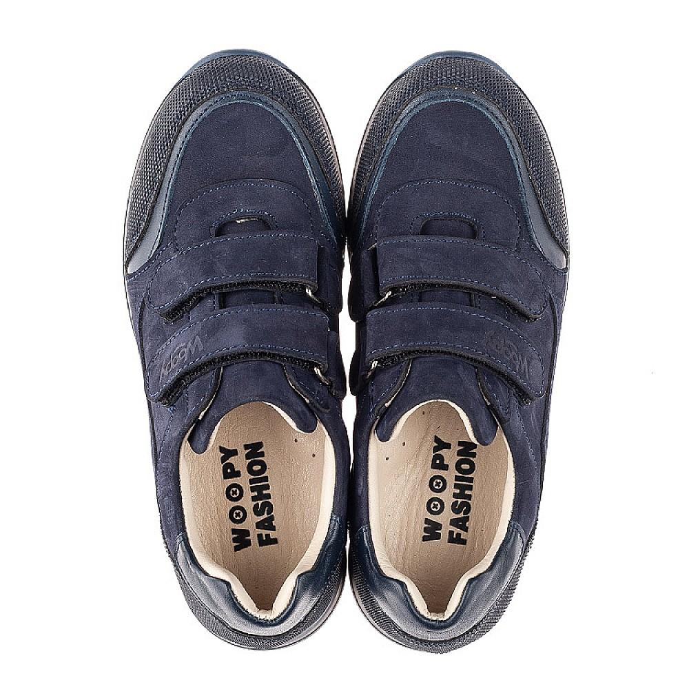 Детские кроссовки Woopy Fashion синие для мальчиков натуральный нубук размер 29-40 (7088) Фото 5