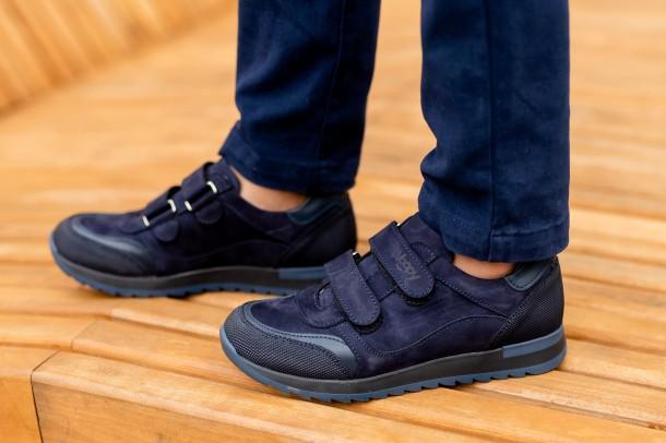 Мальчик обут в детские кроссовки Woopy Fashion синие (7088) Фото 2