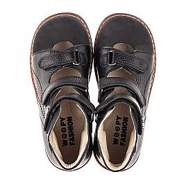Детские ортопедические туфли (с высоким берцем) Woopy Orthopedic черные для мальчиков натуральная кожа размер 30-35 (7090) Фото 5