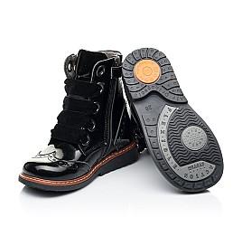 Детские демисезонные ботинки Woopy Orthopedic черные для девочек натуральная лаковая кожа размер 26-26 (7092) Фото 2
