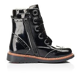 Детские демисезонные ботинки Woopy Orthopedic черные для девочек натуральная лаковая кожа размер 26-26 (7092) Фото 5