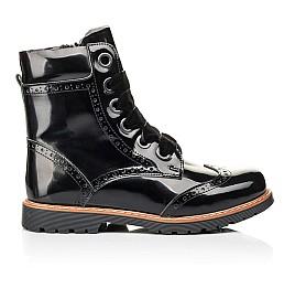 Детские демисезонные ботинки Woopy Orthopedic черные для девочек натуральная лаковая кожа размер 31-40 (7093) Фото 4