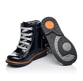 Детские демисезонные ботинки Woopy Orthopedic синие для девочек натуральная лаковая кожа размер 25-27 (7094) Фото 2