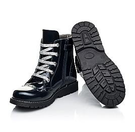 Детские демисезонные ботинки Woopy Orthopedic синие для девочек натуральная лаковая кожа размер 37-39 (7095) Фото 2