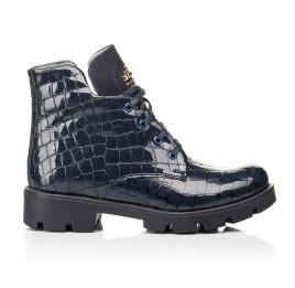 Детские демисезонные ботинки Woopy Fashion синие для девочек натуральная лаковая кожа размер 36-39 (7100) Фото 4
