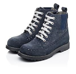 Детские демисезонные ботинки Woopy Fashion синие для девочек натуральная замша размер 40-40 (7101) Фото 3