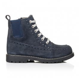 Детские демисезонные ботинки Woopy Fashion синие для девочек натуральная замша размер 40-40 (7101) Фото 4