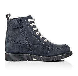 Детские демисезонные ботинки Woopy Fashion синие для девочек натуральная замша размер 40-40 (7101) Фото 5