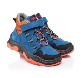 Детские демисезонные ботинки Woopy Fashion темно-синие для мальчиков натуральный нубук размер 26-33 (7104) Фото 1