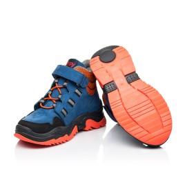 Детские демисезонные ботинки Woopy Fashion темно-синие для мальчиков натуральный нубук размер 26-33 (7104) Фото 2