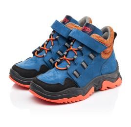 Детские демисезонные ботинки Woopy Fashion темно-синие для мальчиков натуральный нубук размер 26-33 (7104) Фото 3