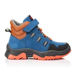Детские демисезонные ботинки Woopy Fashion темно-синие для мальчиков натуральный нубук размер 26-33 (7104) Фото 4