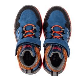 Детские демисезонные ботинки Woopy Fashion темно-синие для мальчиков натуральный нубук размер 26-33 (7104) Фото 5