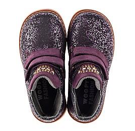 Детские демисезонные ботинки Woopy Orthopedic фиолетовые для девочек натуральный нубук размер 20-29 (7106) Фото 5