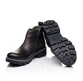 Детские демисезонные ботинки Woopy Fashion черные для девочек натуральная кожа и замша размер 32-37 (7109) Фото 2