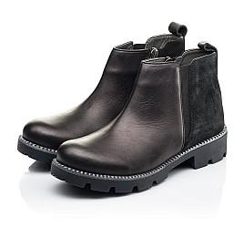 Детские демисезонные ботинки Woopy Fashion черные для девочек натуральная кожа и замша размер 32-37 (7109) Фото 3