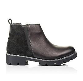 Детские демисезонные ботинки Woopy Fashion черные для девочек натуральная кожа и замша размер 32-37 (7109) Фото 4