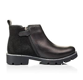 Детские демисезонные ботинки Woopy Fashion черные для девочек натуральная кожа и замша размер 32-37 (7109) Фото 5